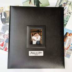 Personalised Wedding Photo Album 500 Black