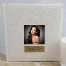 Personalised Cream Lace  Birthday Photo Album - 200