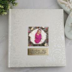 Personalised Cream Lace  Christening Photo Album - 200