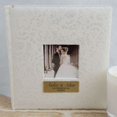 Personalised Cream Lace Wedding  Photo Album - 200