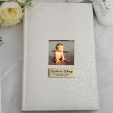 Personalised Cream Lace Naming Photo Album - 300