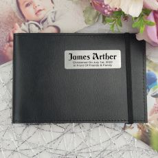 Personalised Christening Brag Photo Album - Black