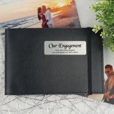 Personalised Engagement Baby Brag Photo Album - Black