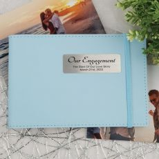 Personalised Engagement Brag Photo Album - Blue