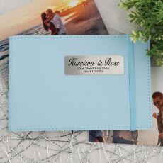 Personalised Wedding Brag Photo Album - Blue
