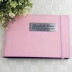 Personalised Baby Girl Memorial Brag Photo Album - Pink
