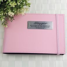 Personalised Pet Memorial Brag Photo Album - Pink