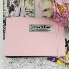 Personalised Wedding Brag Photo Album - Pink