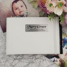 Personalised Baptism Brag Photo Album - White