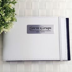 Personalised Baby Memorial Brag Photo Album - White