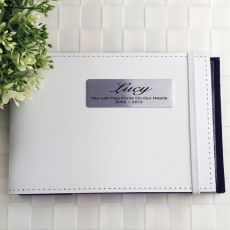 Personalised Pet Memorial Mini Photo Album - White