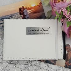 Personalised Wedding Brag Photo Album - White