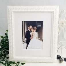 Venice White 5x7 Photo Frame