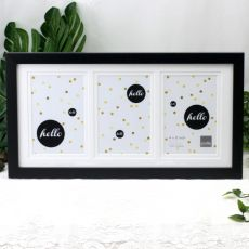 Black Timber Triple 4x6 Photo Frame