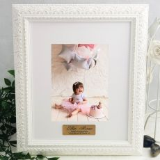1st Birthday Photo Frame Venice White 5x7