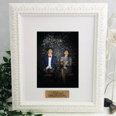 30th Personalised Photo Frame Venice White 5x7