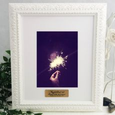 50th Personalised Photo Frame Venice White 5x7
