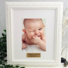 Baptised Personalised Photo Frame Venice White 5x7