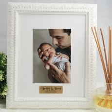 Dad Personalised Photo Frame Venice White 5x7