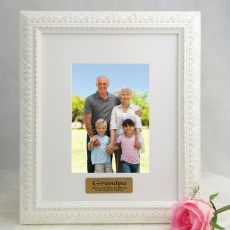 Grandpa Personalised Photo Frame Venice White 5x7