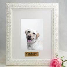 Pet Personalised Photo Frame Venice White 5x7