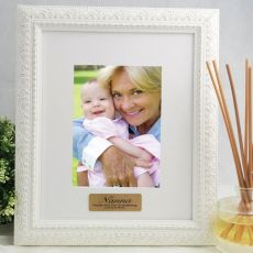 Nan Personalised Photo Frame Venice White 5x7