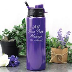Custom Engraved Engraved Water Drink Bottle Purple - Your Design