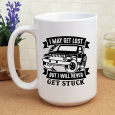 Novelty Personalised Coffee Mug 15oz - Never Get Stuck