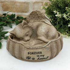 Cat Bed Urn Memorial Statue