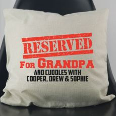 Reserved For Grandpa Personalised Cushion Cover