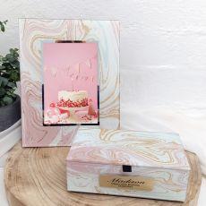 60th Birthday Marmo Frame & Jewel Box Set