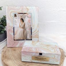 Bride Marmo Frame & Jewel Box Set