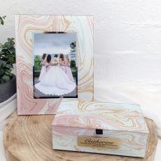 Maid of Honour Marmo Frame & Jewel Box Set