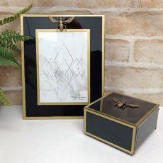 Black Bee 5x7 Frame & Jewel Box Set