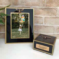 21st Birthday Black Bee 5x7 Frame & Jewel Box Set
