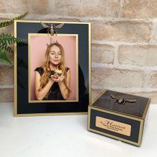 50th Birthday Black Bee 5x7 Frame & Jewel Box Set