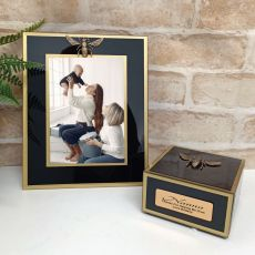 Nan Black Bee 5x7 Frame & Jewel Box Set