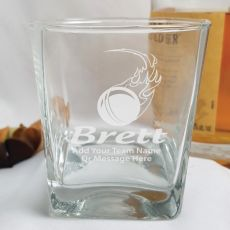 Cricket Coach Engraved Personalised Scotch Spirit Glass