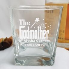 Godmother Engraved Scotch Spirit Glass Personalised Message