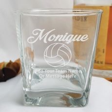Netball Coach Engraved Personalised Scotch Spirit Glass
