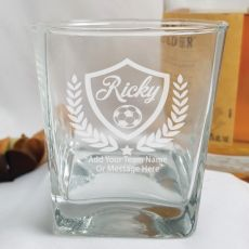 Soccer Coach Engraved Personalised Scotch Spirit Glass
