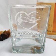 Engraved Personalised Scotch Spirit Glass (F)