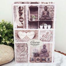 60th Personalised Stash Box Book - Love