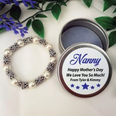 Silver Bracelet with Personalised Nana Tin