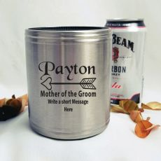 Mother Of The Groom Engraved Silver Stubby Can Cooler