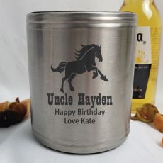 Uncle Engraved Silver Stubby Can Cooler Personalised Message