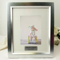 1st Birthday Personalised Photo Frame 5x7 Photo Silver