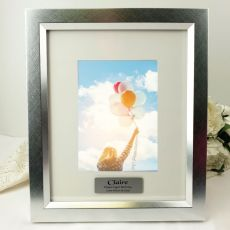 Birthday Personalised Photo Frame 5x7 Photo Silver