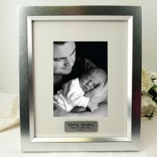 Dad Personalised Photo Frame 5x7 Photo Silver