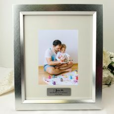 Godfather Personalised Photo Frame 5x7 Photo Silver